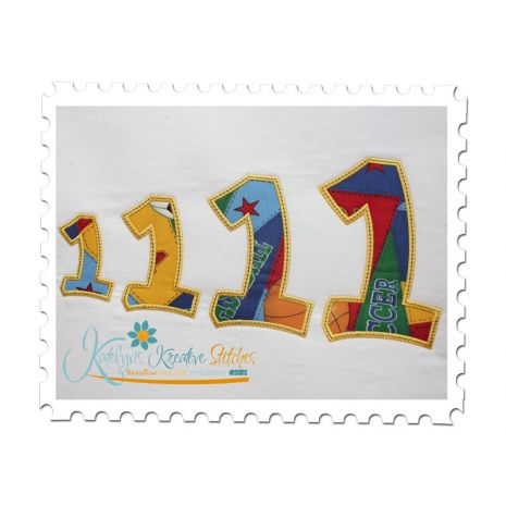 Applique Numbers (Showing 3, 4, 5 and 6 inch) (7 and 8 not shown)
