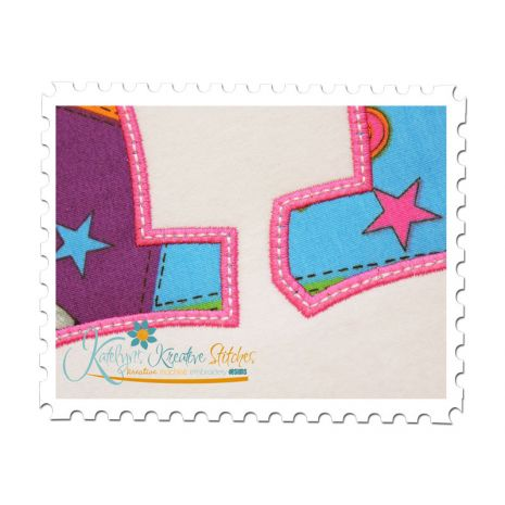 Applique Numbers Close Up in Pink