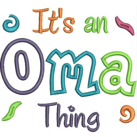 It's an Oma Thing Applique Snap Shot