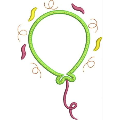 Party Balloon Applique Number Set Blank Snap Shot