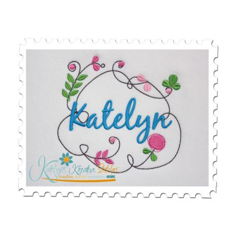 Springtime Frame shown with Optional Name