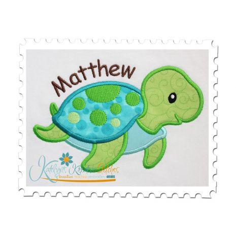Sea Turtle Boy Applique