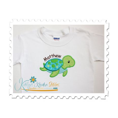 Sea Turtle Boy Applique Tee
