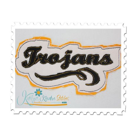 Trojans Distressed Applique