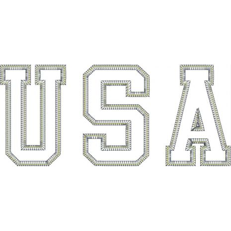 USA Vintage Applique Snap Shot