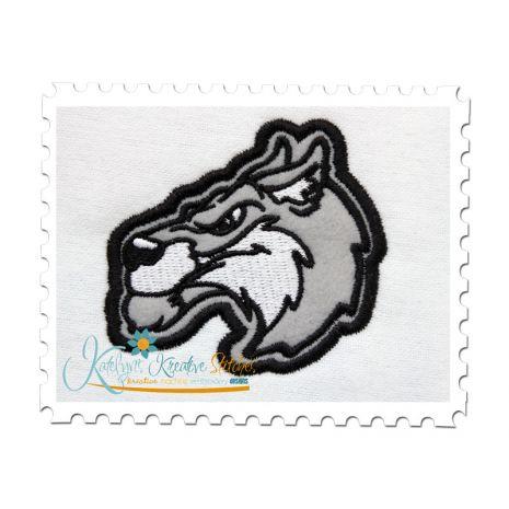 Wolf Applique 3x3