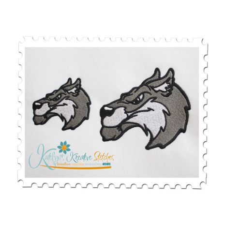 Wolf Applique and Fill Stitch