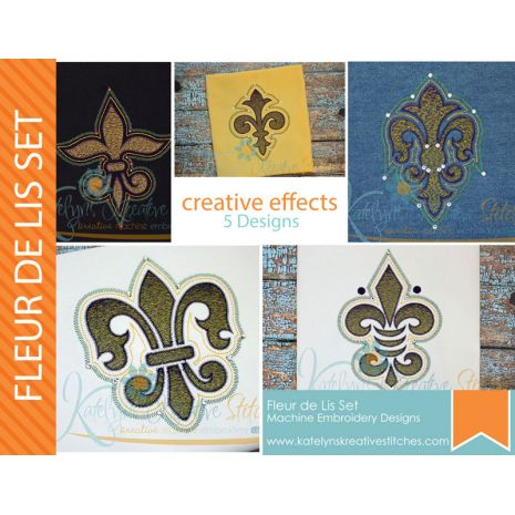 Fleur de Lis Creative Effects - 5 Designs