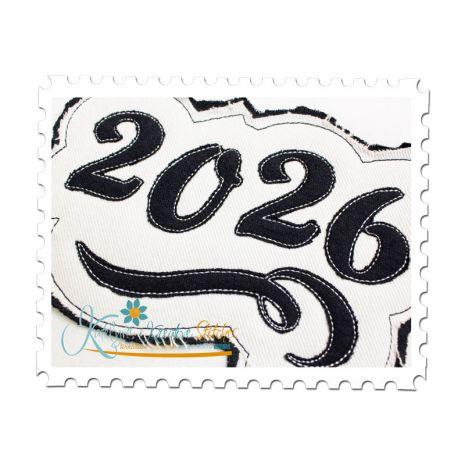2026 Distressed Applique Close Up