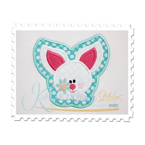 Baby Bunny Framed Applique