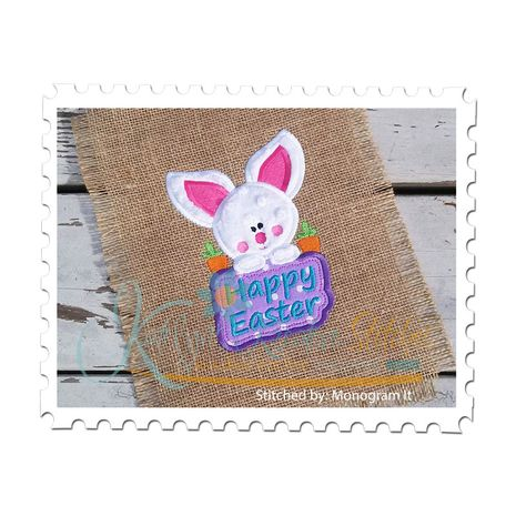 Baby Bunny with Sign