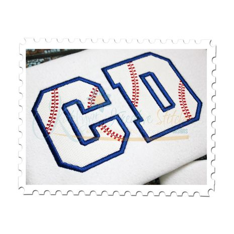 Baseball Applique Font 4 inch shown