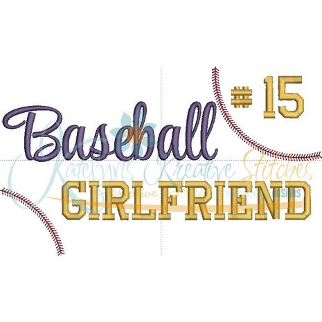 Baseball Girlfriend Snap Shot  (Numbers not included)