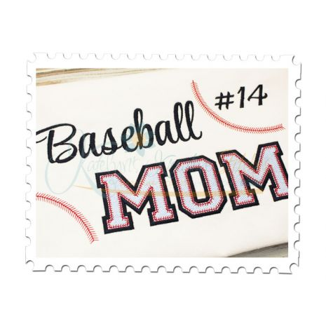 Baseball MOM Filled (Numbers not included)