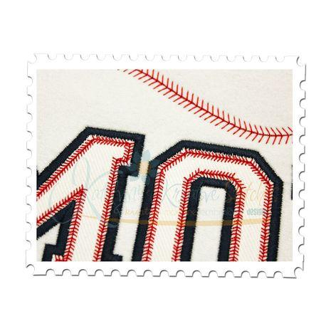 Baseball MOM Applique Close Up