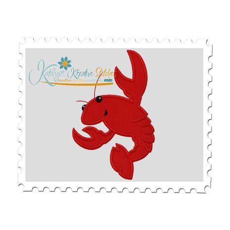 Crawfish Applique (5x7 and 6x10)