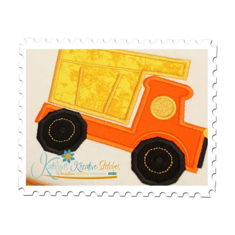 Dump Truck Applique Close Up