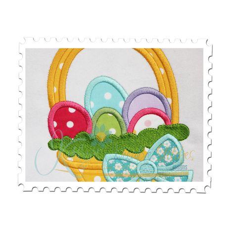Easter Basket Applique Close Up