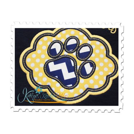 Elegant Frame Paw Applique (Additional text not included.)