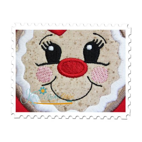 Gingerbread Girl Applique Close Up