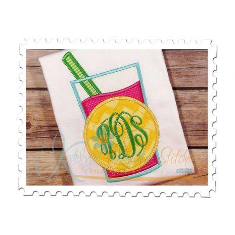 Lemonade Glass Applique