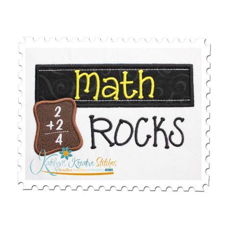 Math Rocks Chalkboard Applique