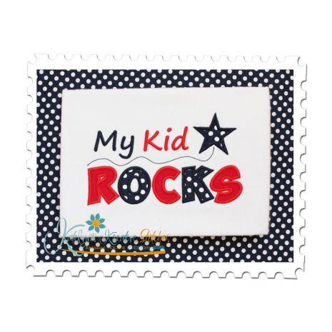 My Kid Rocks Applique
