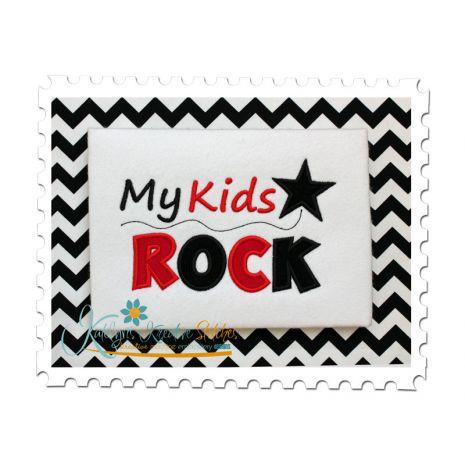 My Kids Rock Applique