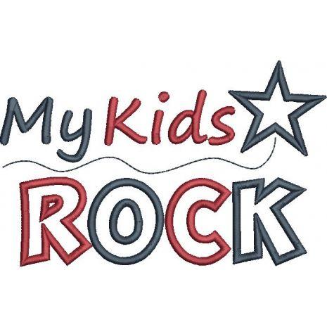 My Kids Rock Applique Snap Shot