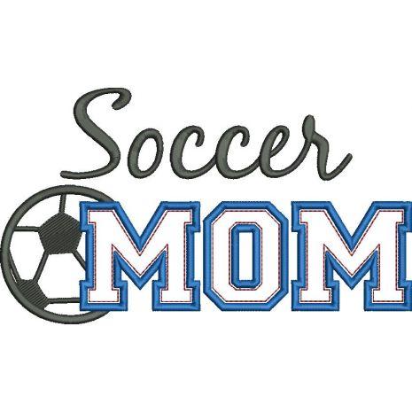 Soccer MOM Applique Snap Shot