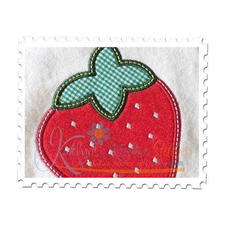 Strawberry Applique Close Up