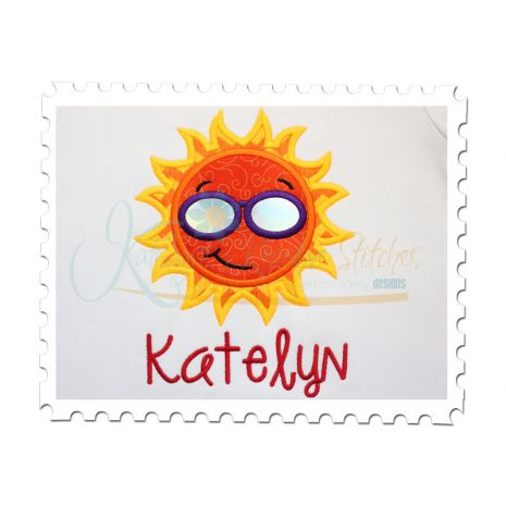 Sun Applique (Font is not included)