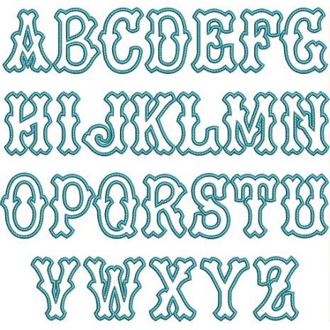 Tagliato Applique Letters Snap Shot