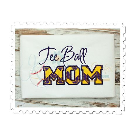 Tee Ball MOM Applique