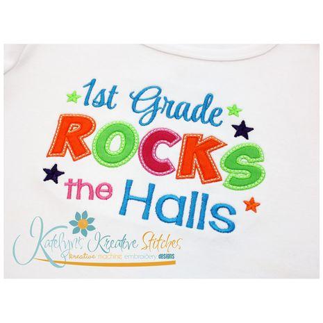 1st Grade Rocks the Halls Close Up