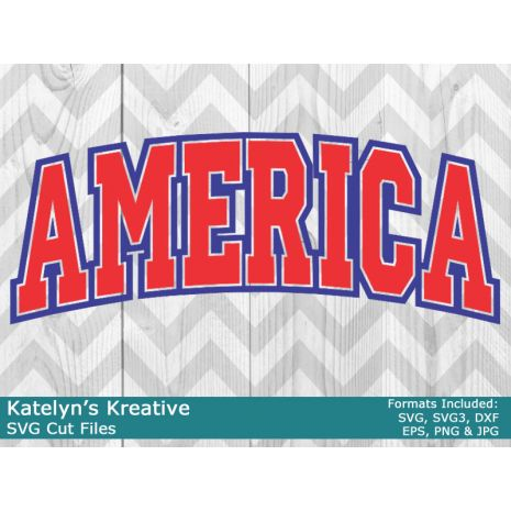 America Arched SVG