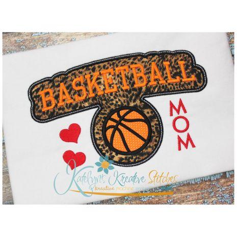 Basketball Mom Block Arc Applique