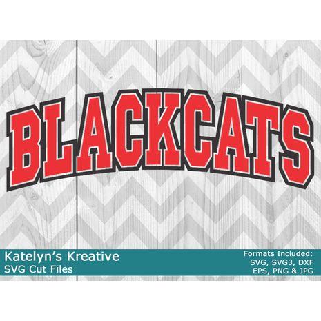 Blackcats Arched SVG