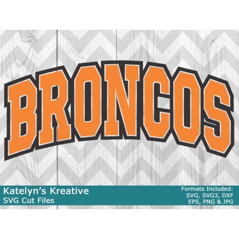 Broncos Arched SVG