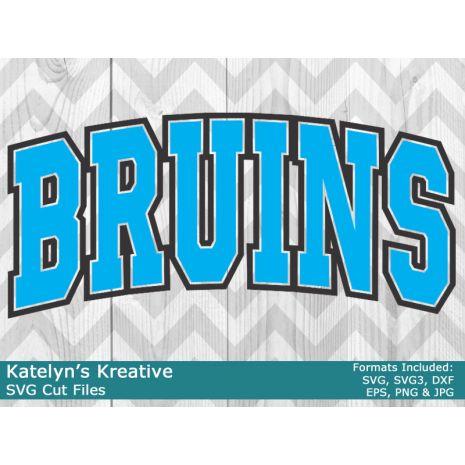 Bruins Arched SVG