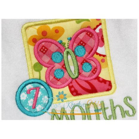 Butterfly Applique Frame Close Up
