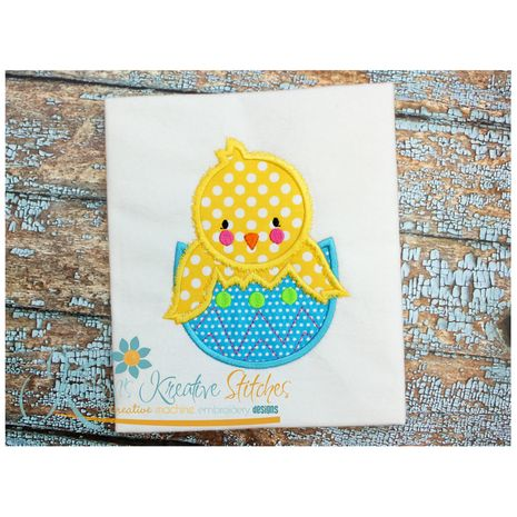 Easter Chick with Egg Applique