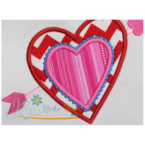 Heart and Arrow Applique Close Up