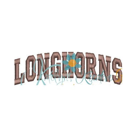 Longhorns Arched 4x4 Satin Snap Shot