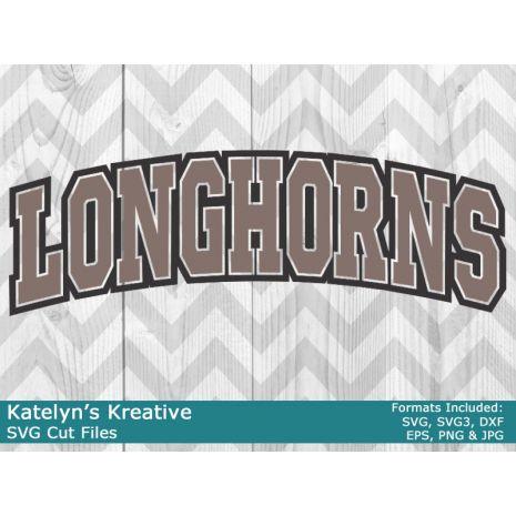 Longhorns Arched SVG