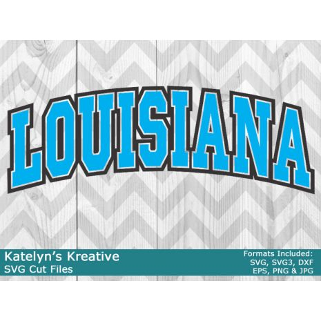 Louisiana Arched SVG