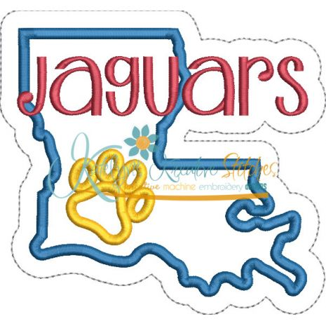 Louisiana State Applique Jaguars