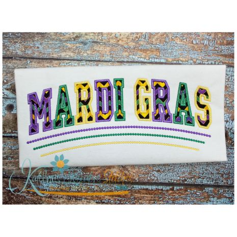 Mardi Gras Arched (8x14 shown)