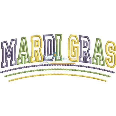 Mardi Gras Applique Arched Snap Shot
