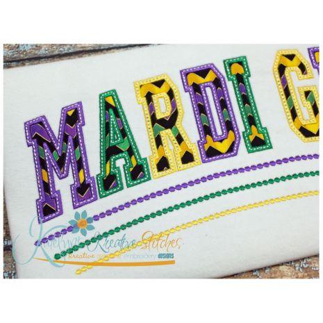 Mardi Gras Applique Arched Close Up
